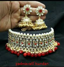 bridal choker necklace images Vivaah wedding bridal choker kundan necklace with earrings jpg