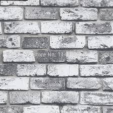 bricks pattern 3d gray bricks wallpaper wall paper simple chinese