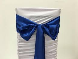 royal blue chair sashes linen table clothes seat covers draping floral