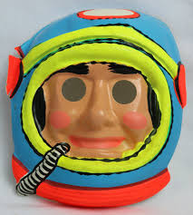 vintage masks vintage astronaut mask spaceman zest 1960 s 60 s black