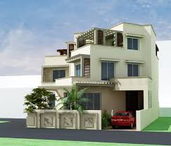 incredible design ideas 4 3d house plans in pakistan 3d front