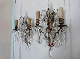 Vintage Sconces Vintage Classic Form Pair French Style Electric Wall Sconces W