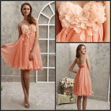sale cheap orange sweetheart applique chiffon short fancy