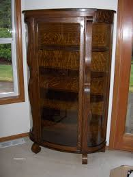 curved glass china cabinet curved glass tiger oak china cabinet antique appraisal instappraisal