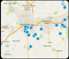 spokane zip code map spokane estate