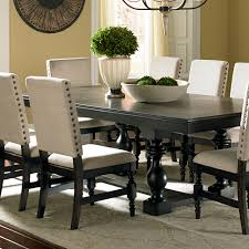 steve silver leona 9 piece dining room set in dark hand rubbed