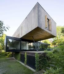 contemporary cantilever house design by paris architects french
