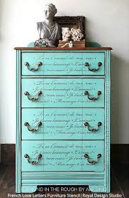 french script l shade french love letters furniture stencil stenciling for diy home