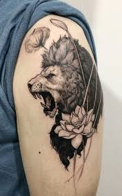 top 30 excellent roaring lion tattoo ideas 2017