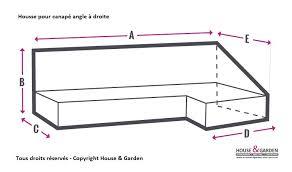 housse de canapé sur mesure housse protection sur mesure pour canapé angle à droite