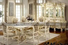 antique white dining room set