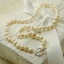 silver necklace clasps images Freshwater pearl necklace with silver clasp by highland angel jpg