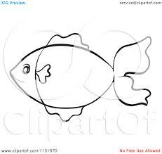 simple fish outline clip art clipart panda free clipart images