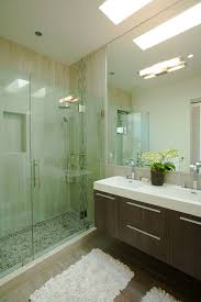 Contemporary Bathtub Faucets Pebble Tile Shower Bathroom Industrial With Wet Room Contemporary