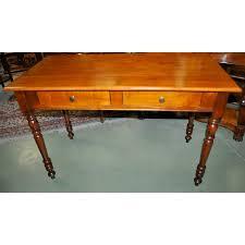 bureau merisier bureau plat de style louis philippe en merisier massif
