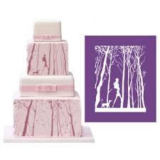 ak forest human animal decorative lace mat wedding cake mold