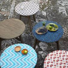 Mosaic Patio Furniture Outdoor Side Table Mosaic Outdoorlivingdecor