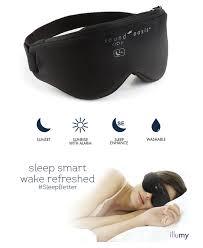 sleep mask light alarm illumy the smart sleep mask indiegogo