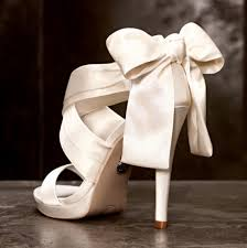 ribbon heels shoes wedding white satan open toes ribbon high heels