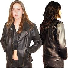 female motorcycle jackets women u0027s leather motorcycle jackets by bikers paradise