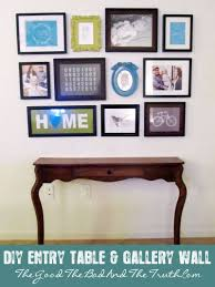Turquoise Entry Table by Diy Entry Table And Gallery Wall The Good The Bad And The Truth