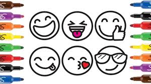 how to draw emoji faces for kids k emoji face coloring page