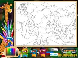 dora explorer coloring game