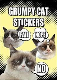 Frown Cat Meme - grumpy cat stickers grumpy cat 0800759791644 com books
