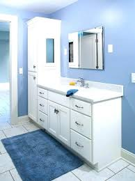 Linen Cabinet For Bathroom Soft Blue Wall Color With White Vanity And Linen Cabinet Sets For
