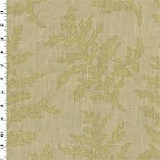 beige green 12 yd pc beige green branches motif print vintage linen home