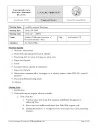 Informal Meeting Agenda Template by Informal Meeting Minutes Template 3 Best Agenda Templates