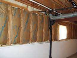 the correct way to fix exposed walls in a basement