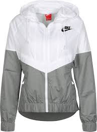 nike windbreaker w windbreaker white grey