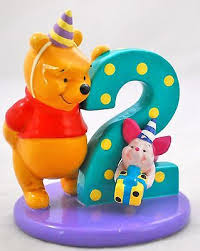 winnie the pooh cake topper winnie the pooh with piglet figurine 2nd birthday use as a cake