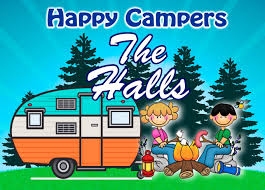 Retro Campers by Camping Sign Happy Camper Couple W Retro Camper Add Custom Name