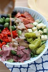 Salad Main Dish - antipasto chopped salad crumbs and chaos