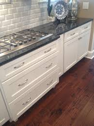 White Subway Tile Kitchen by Modern Kitchen Blue Pearl Granite White Subway Tile Backsplash