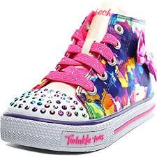 skechers led light up shoes skechers girls high top trainers sizes 5 9 led light up shoes