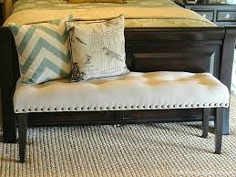 Benches Bedroom Our Home Away From Home Diy Drop Cloth Bench For The Master
