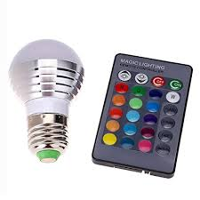 color changing light bulb with remote amazon com supernight 3w rgb led color changing light bulb l