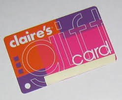 claires gift card a s gift card for the casual perfectionist