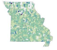 Missouri Zip Code Map by Missouri Housing Market Conditions