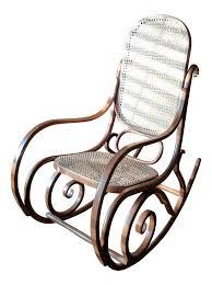 Modern Rocking Chair Png Thonet Bentwood U0026 Cane Rocking Chair Chairish
