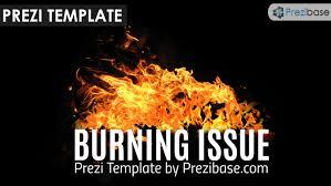 burning issue prezi template prezibase
