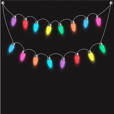 rope with colored lights on a black background vector free