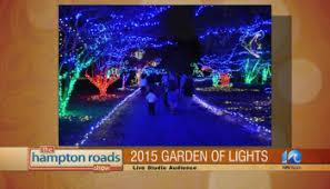 walk through the lights at norfolk botanical garden wavy tv