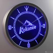 nc0115 kokanee luminova neon sign bar beer decor led wall clock