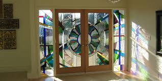 kitchen cabinet door stained glass inserts the beveled edge glass studio custom leaded glass