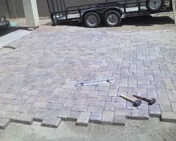 Diy Patio Pavers Installation Installing Patio Blocks Free Home Decor Techhungry Us