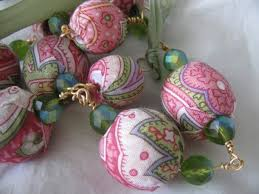 How To Make Christmas Ornaments Out Of Beads - how to make fabric covered beads 3 steps with pictures